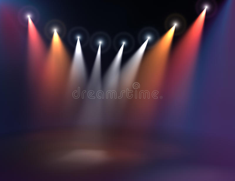 Download Stage illumination stock illustration. Image of steam - 20774805