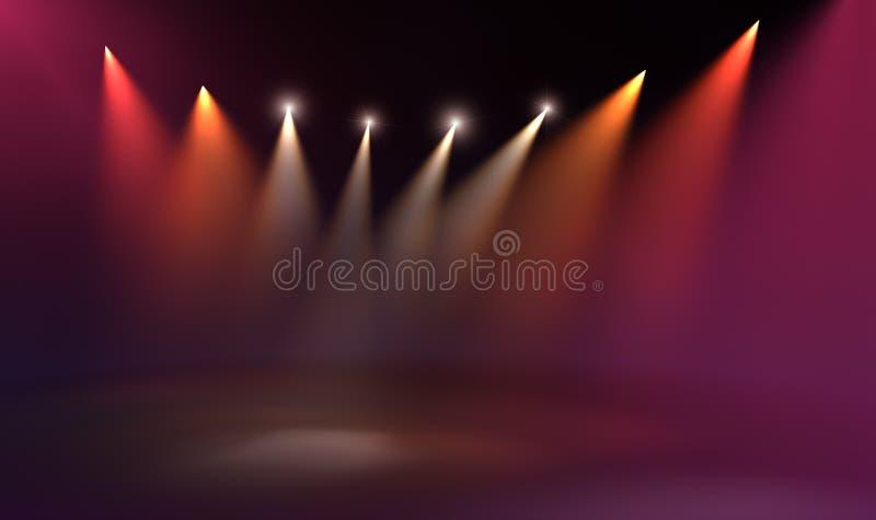 Stage light royalty free illustration