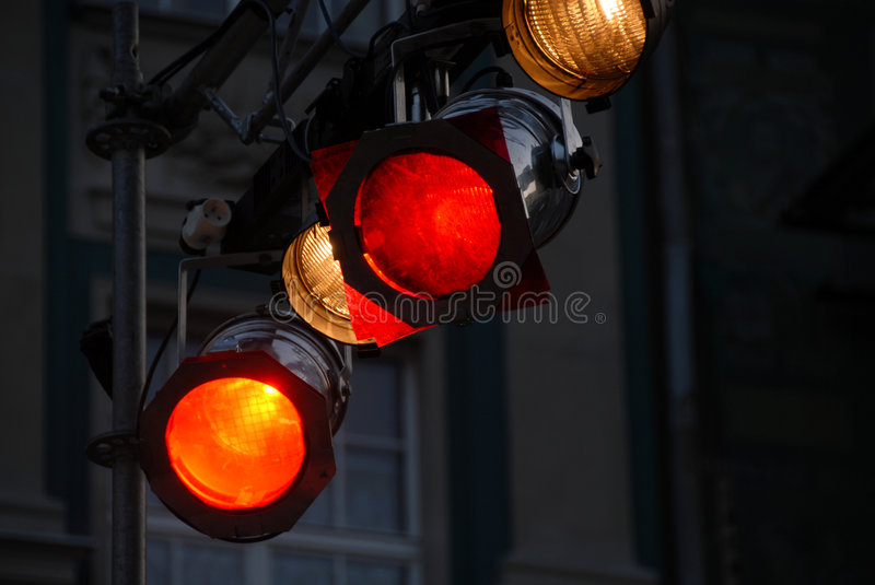Stage light equipment stock images