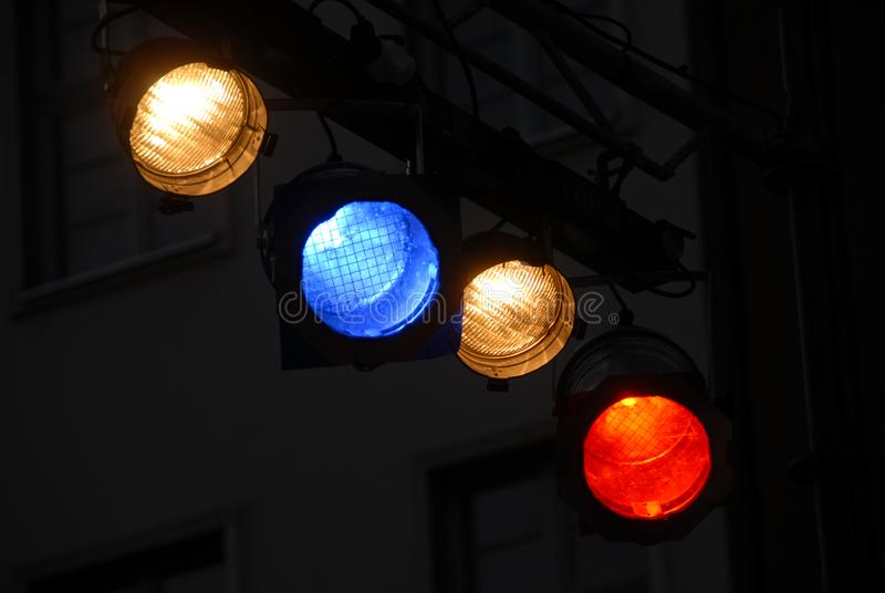 Stage light equipment royalty free stock photo
