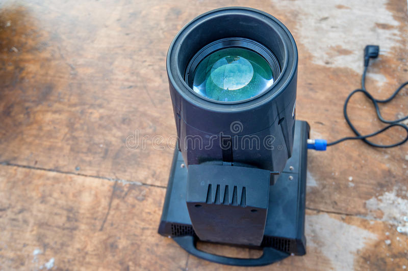 Stage light source. Close up of stage color light source switched off royalty free stock image