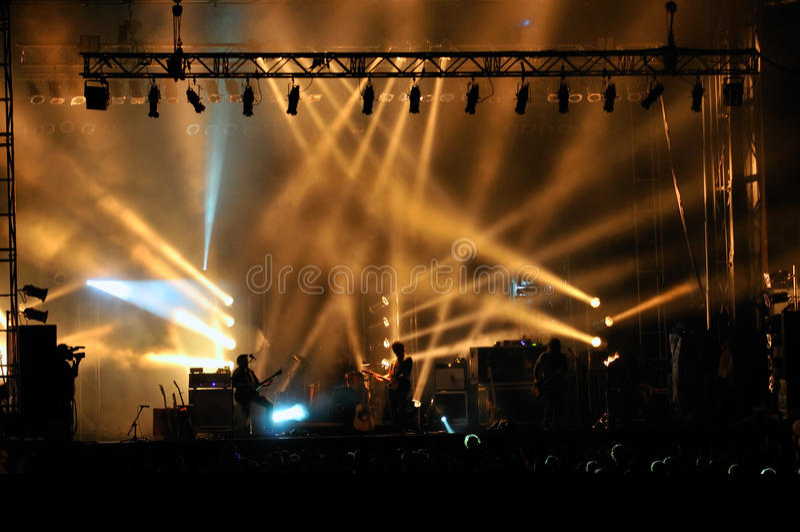 Stage lighting royalty free stock image
