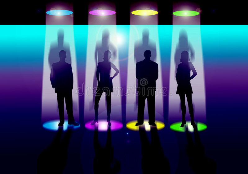 Download Stage lighting stock illustration. Image of show, male - 2991124