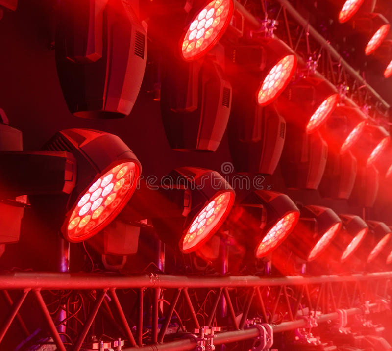 Stage lighting equipment. stock photography