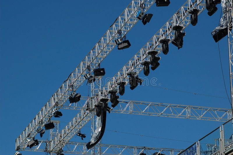 Stage lighting system royalty free stock photos