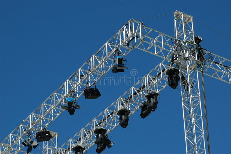 Stage lighting system stock photo