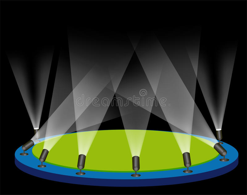 Download Stage lights stock vector. Image of night, presentation - 9483222
