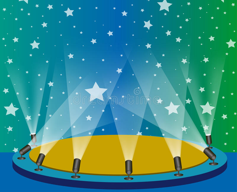 Download Stage lights stock vector. Image of party, illustration - 9483272