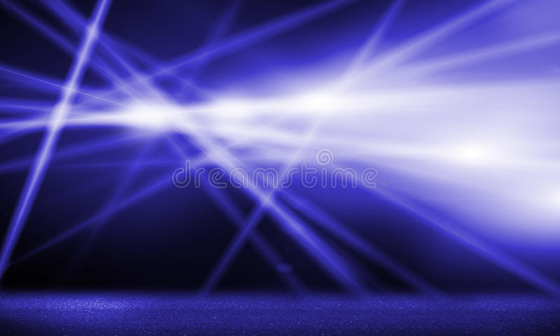 Stage lights. Background image with stage blurred lights and beams stock illustration