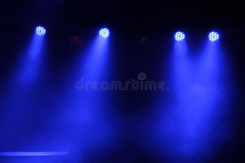 Stage Lights. From an Indian Classical dance performance in India royalty free stock photography