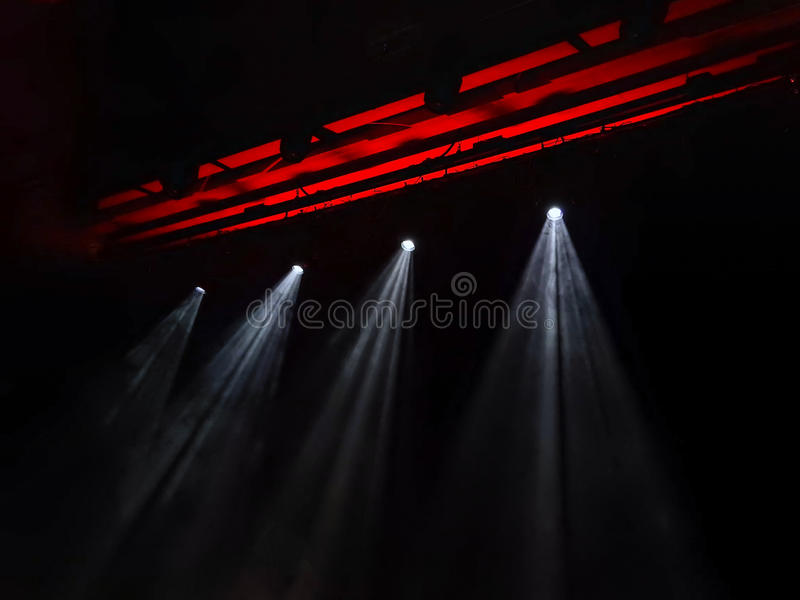 The stage lights. In Recital centre in Melbourne stock image