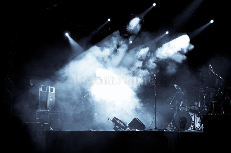 Stage in Lights - Selen stock image