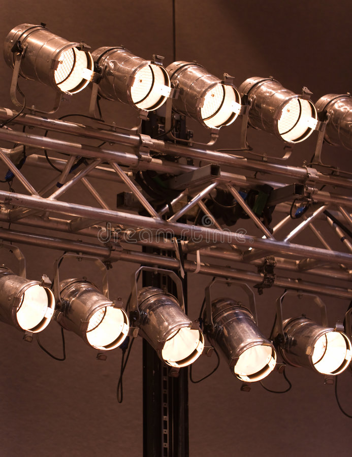 Download Stage Lights Or Spotlights stock photo. Image of light - 4599040