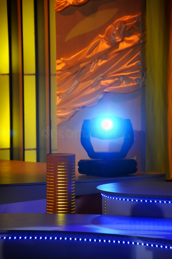 Download Stage Lights - Studio For Production TV Show Stock Photo - Image: 7280096