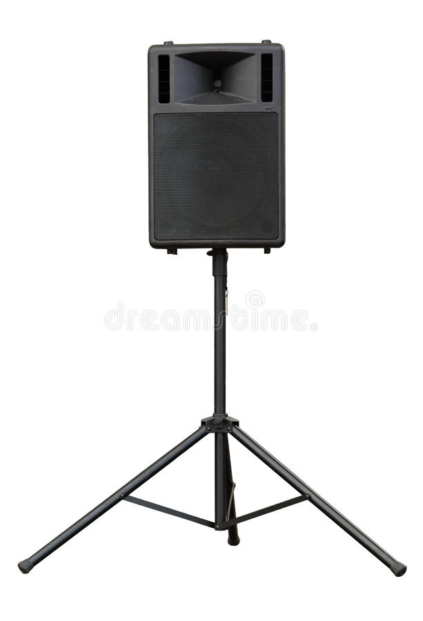 Stage loudspeaker stock image