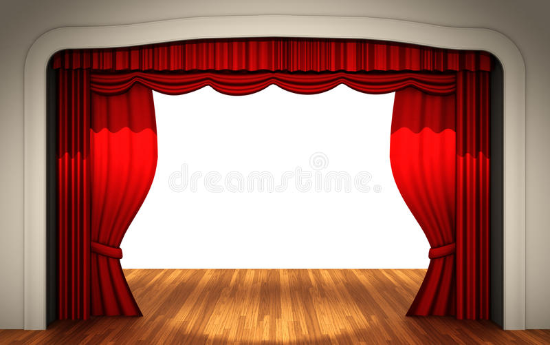 Download Stage with open curtain stock illustration. Image of performance - 18878864