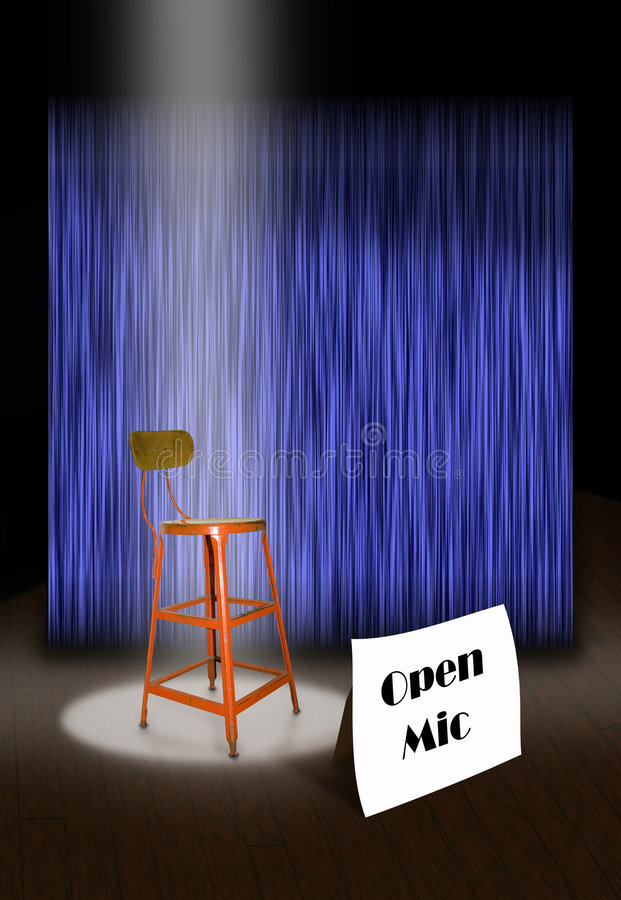 On Stage Open Mic Stock Photo
