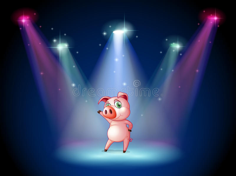 Download A Stage With A Pig At The Center Stock Vector - Image: 31911424