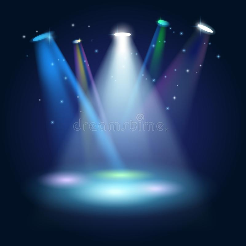 Free Stage Podium Scene With For Award Ceremony On Blue Background Stock Photos - 139533113
