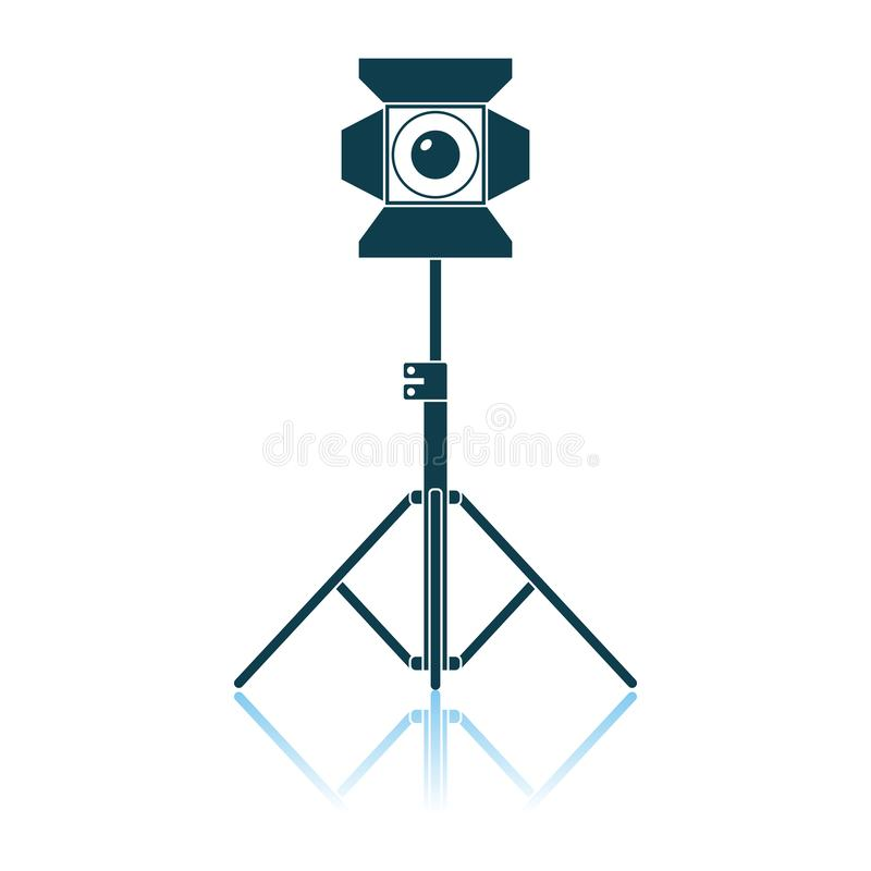 Stage Projector Icon. Shadow Reflection Design. Vector Illustration stock illustration
