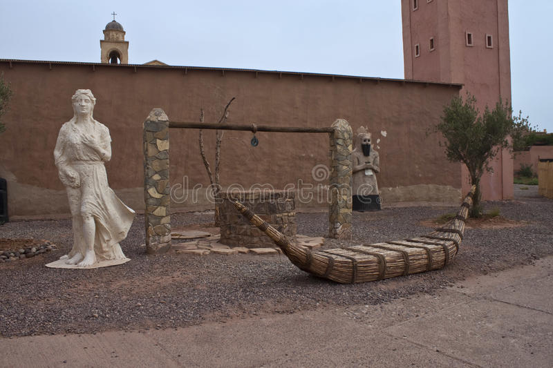Stage props in Ouarzazate. Morocco royalty free stock image