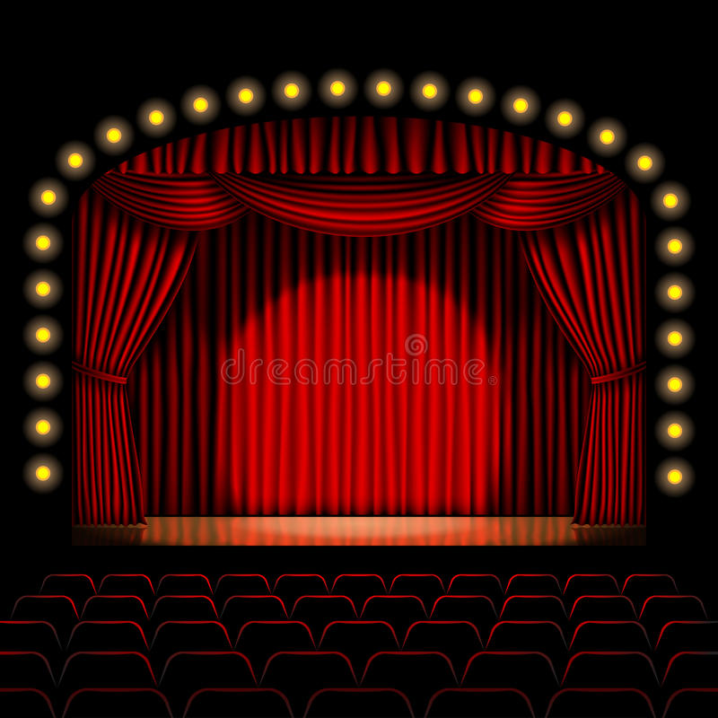 Download Stage With Red Curtain Royalty Free Stock Photo - Image: 29520615