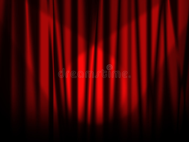 Download Stage red curtain stock illustration. Image of stage, architecture - 5101365