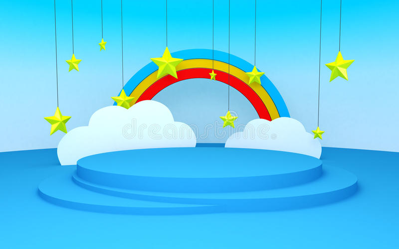 Stage scenery in child style