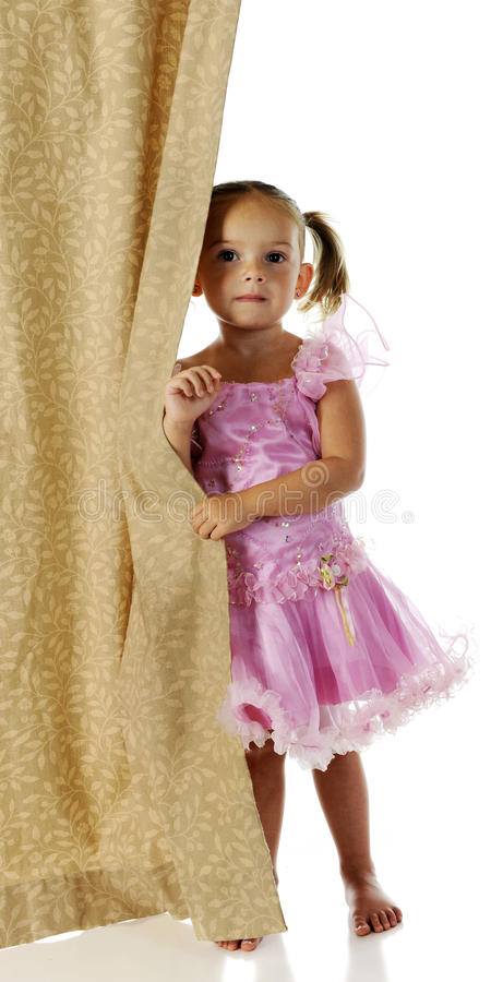 Download Stage Shy stock photo. Image of costume, holding, girl - 25807458