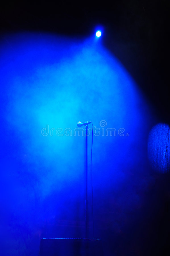 Stage smoke microphone stock images
