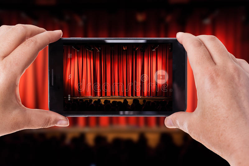 Stage snap stock photography