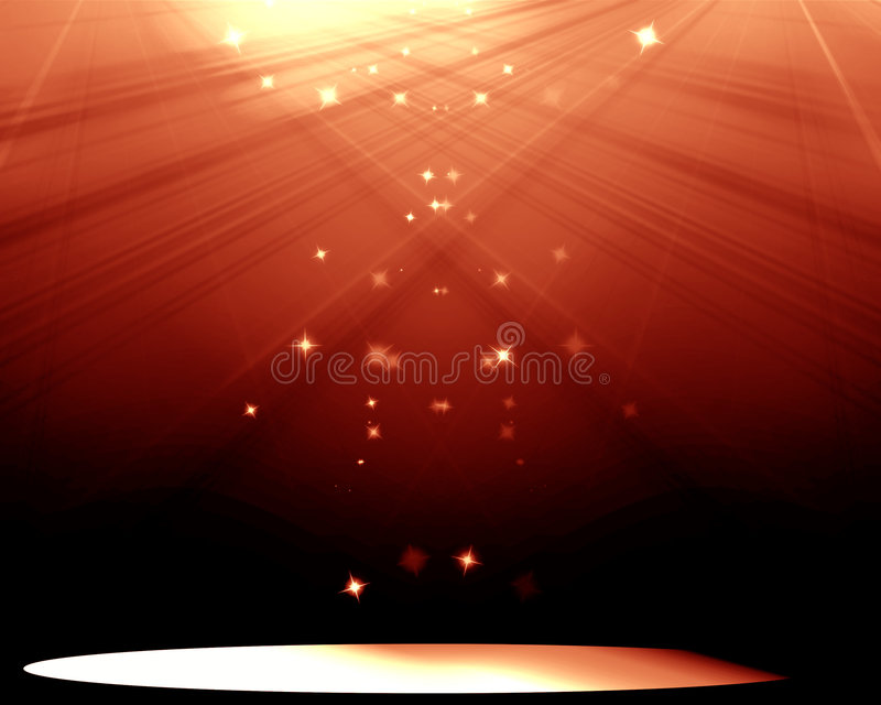 Stage With Spotlight Royalty Free Stock Photo