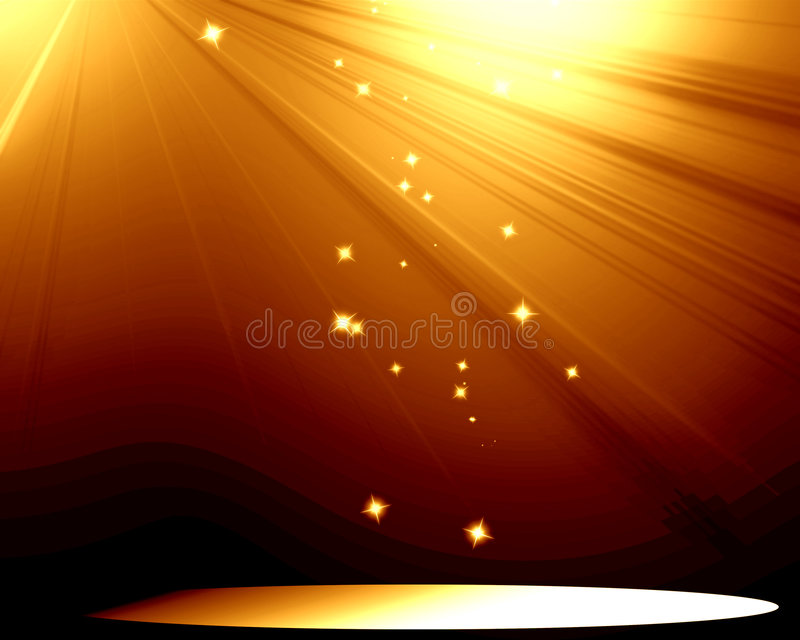 Stage with spotlight vector illustration