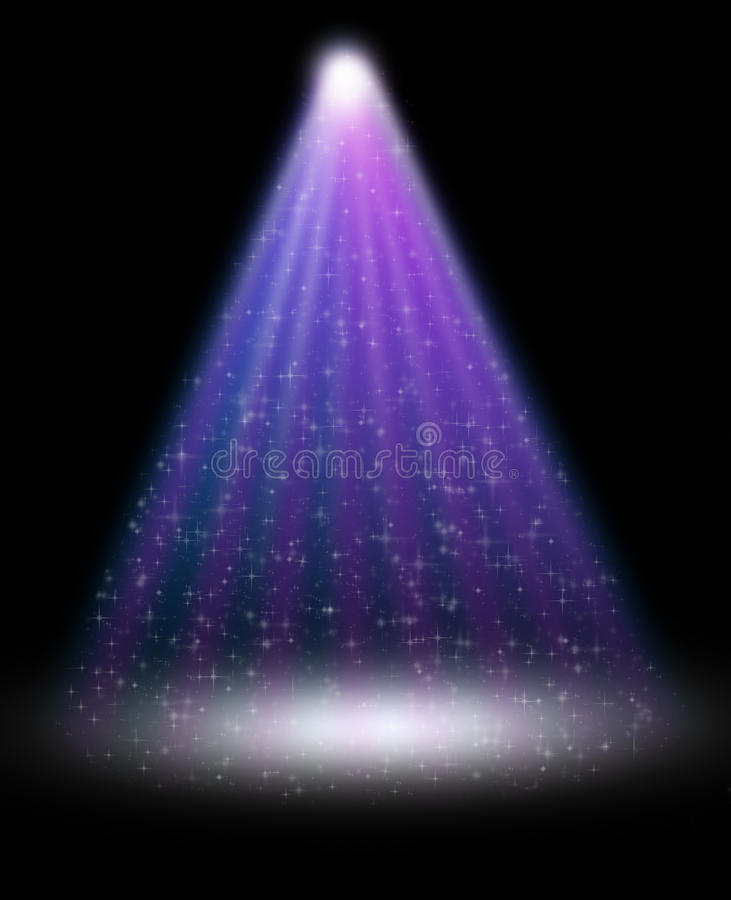 Download Stage Spotlight With Laser Rays Stock Illustration - Image: 24694151