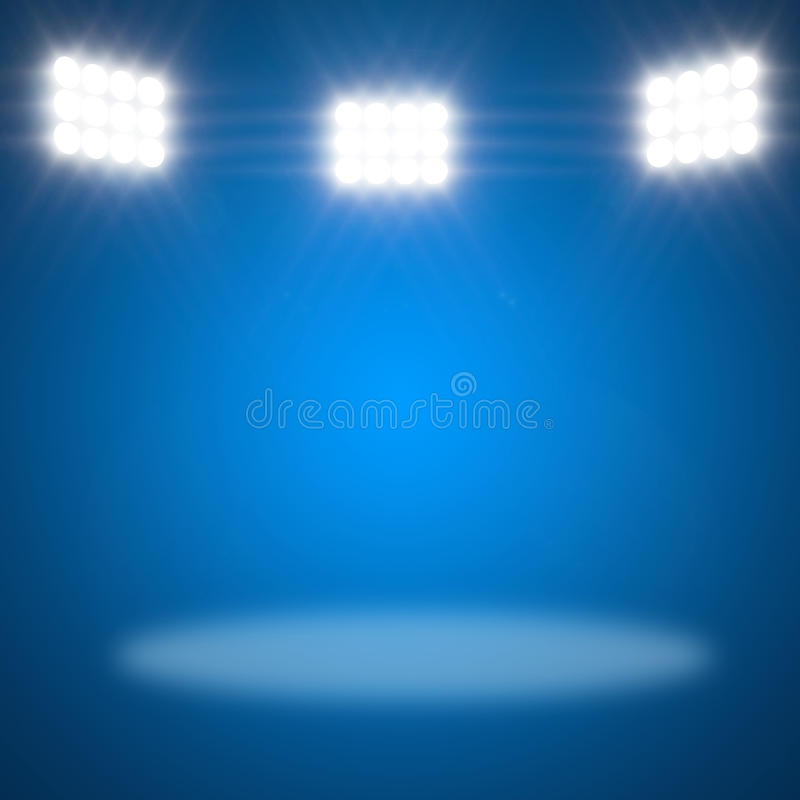 Download Stage Spotlight with rays stock illustration. Image of blur - 23697932