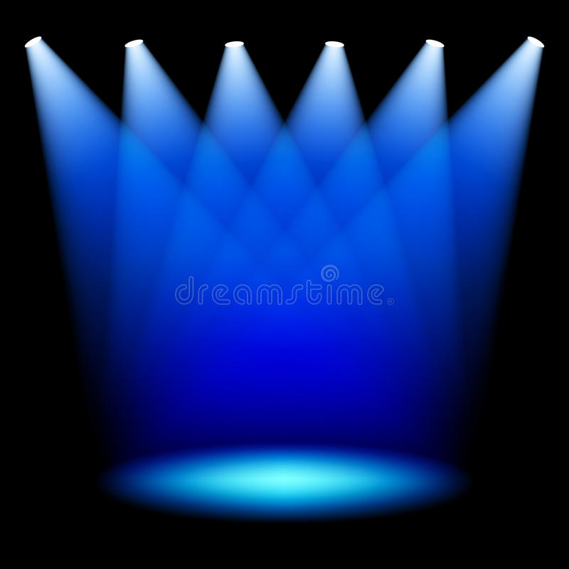 Stage Spotlights Stock Photos