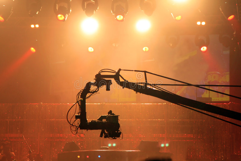 Stage video lights royalty free stock images