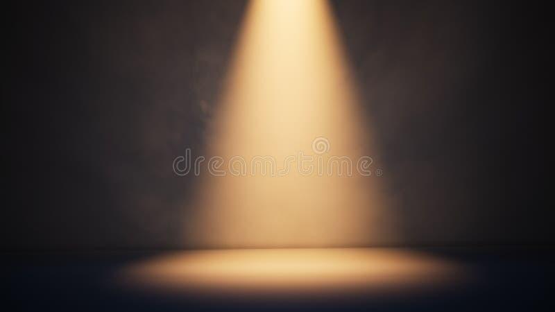 Stage white smoke spotlight background. 3D illustration vector illustration