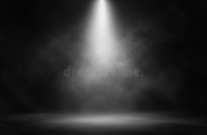 Stage white smoke spotlight. royalty free stock photography