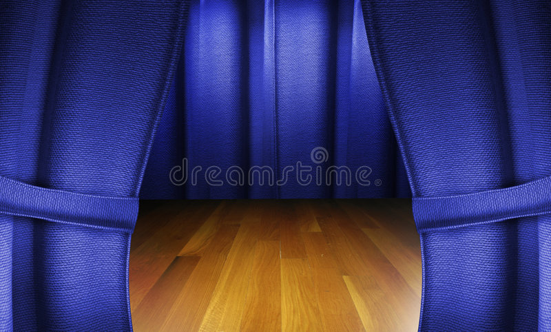 Stage Wooden Floor Royalty Free Stock Image