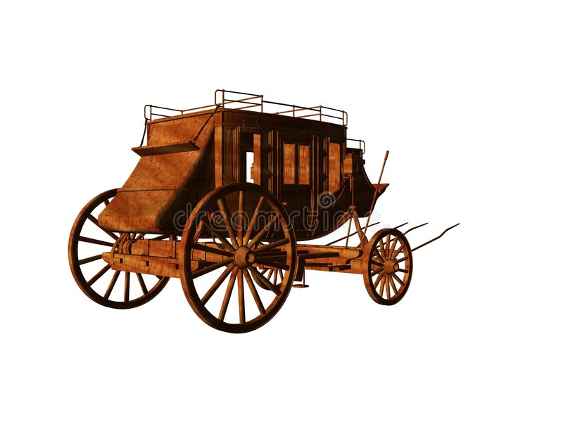 Stagecoach stock illustratie