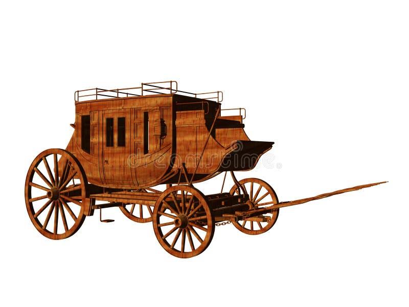 Stagecoach ilustração do vetor