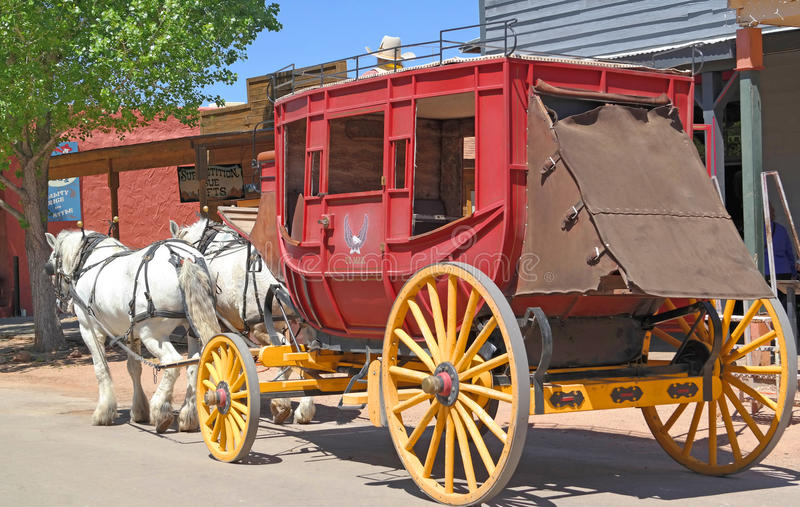 stagecoach stock afbeelding