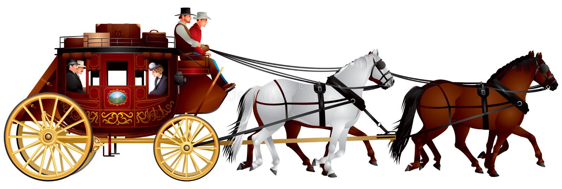stagecoach απεικόνιση αποθεμάτων