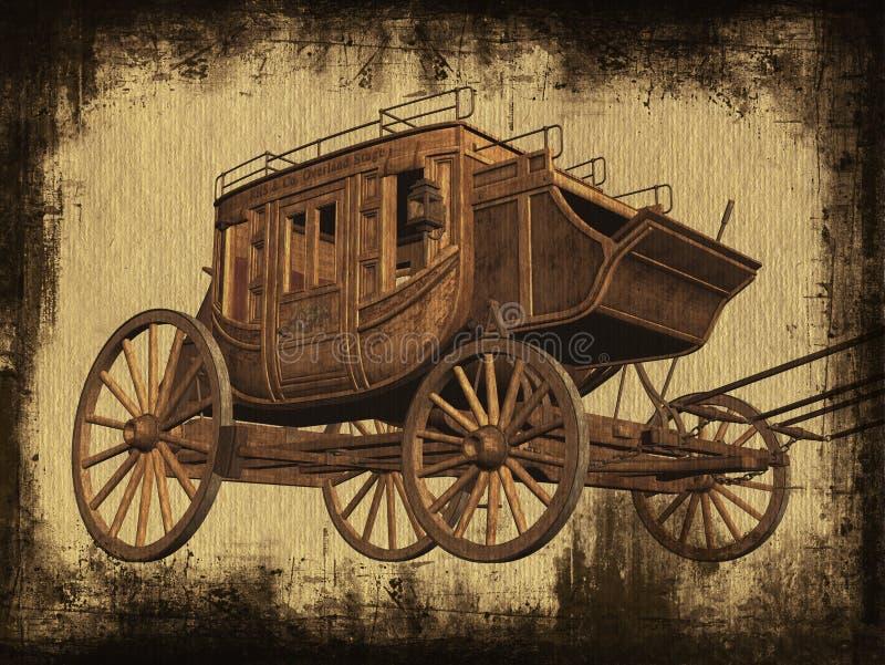 Stagecoach stock illustratie