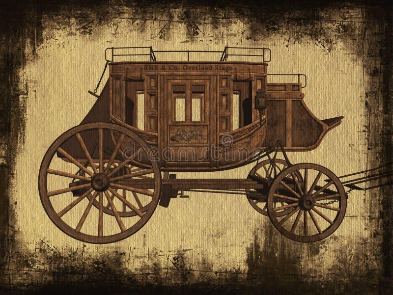 Stagecoach illustrazione vettoriale