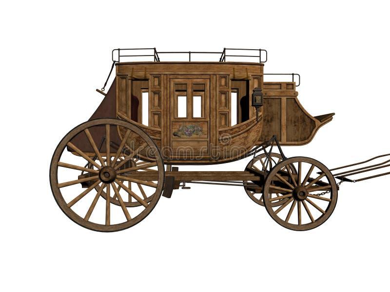 Stagecoach illustrazione di stock