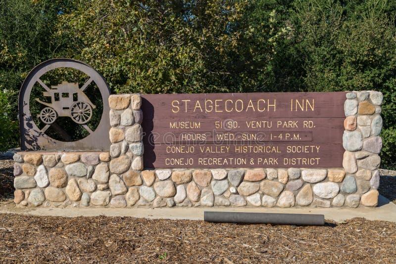 Stagecoach-Gasthaus stockbilder