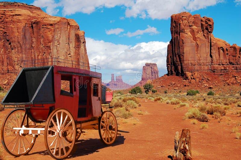 Stagecoach ocidental fotos de stock