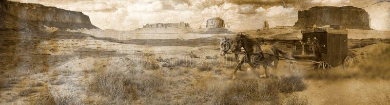Stagecoach panoramisch vektor abbildung